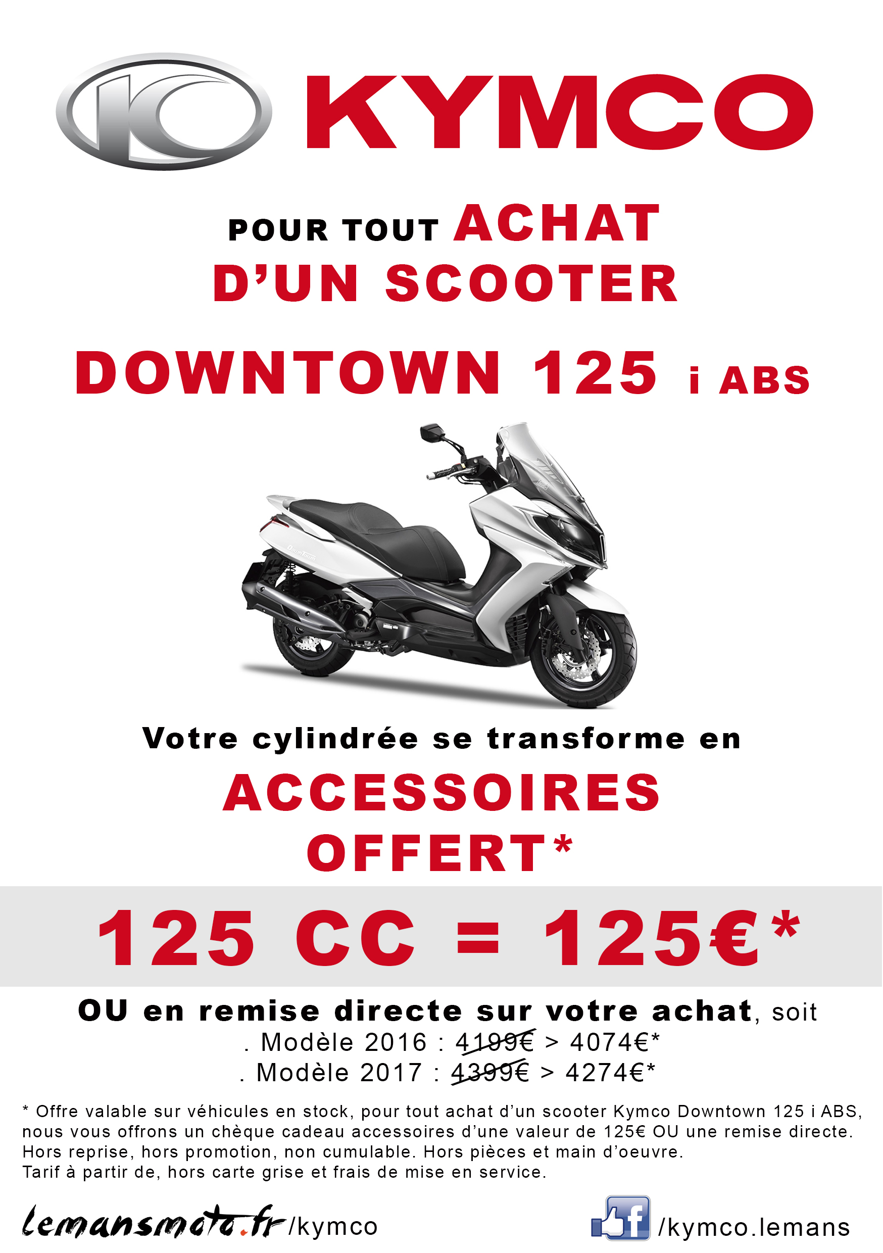 OFFRE SPECIALE SCOOTER DOWNTOWN 125 i ABS